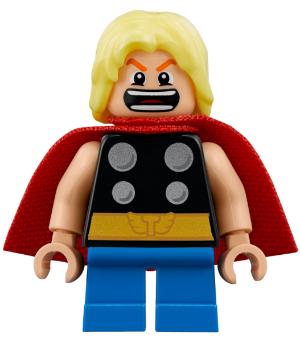 Lego figure thor-spongy cape pearl dark gray legs-sh623