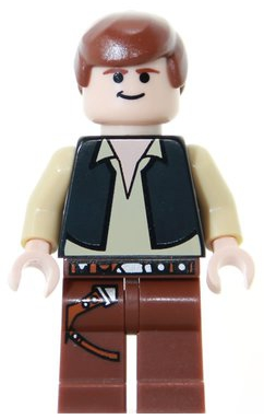 Young Han Solo Minifig Lot Star Wars Figures white shirt Lego Han Solo