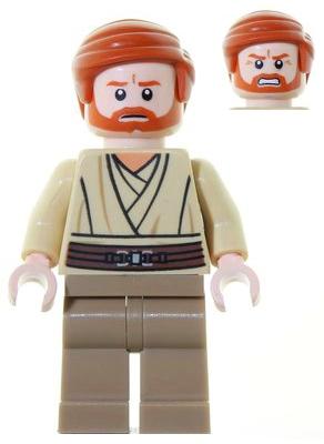 Obi-Wan Kenobi Old with Light Bluish Gray Hair Lego mini figure Star Wars