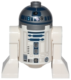 LEGO Star Wars R2-D2 Minifigure Droid with Light Bluish Gray Head