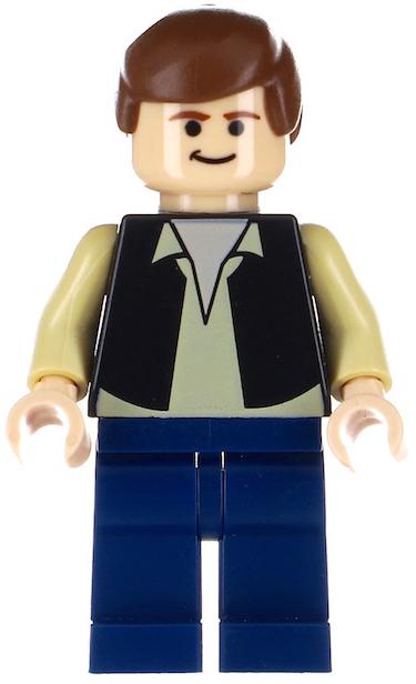 Lego Han Solo 75212 75512 Brown Jacket with Black Shoulders Star Wars Minifigure