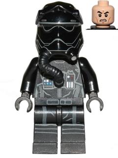 LEGO Star Wars First Order TIE Pilot SW0902 Three White Lines on Helmet