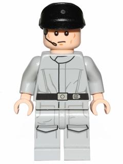 Lego Dark Gray Police Cap Hat Star Wars Imperial Officer Kepi
