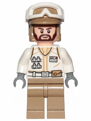Figurka LEGO Hoth rebel, tmavá uniforma zepředu