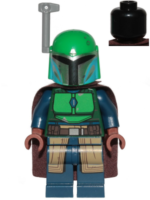 Figurka LEGO Bojovnice Mandalorianů zelená zepředu