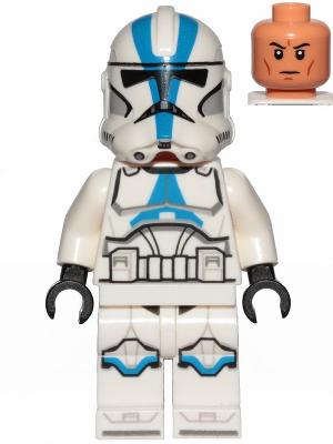 Figurka LEGO Clone Trooper 501 legie zepředu