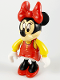 Minifig No: 2661  Name: Minnie Mouse Figure with Red Dress, Yellow Sleeves, and Red Shoes
