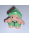 Minifig No: 31231pb05  Name: Duplo Figure Little Forest Friends, Female, Green Dress with Two Ladybugs (Grizzly Toadstool)