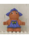 Minifig No: 31234pb01  Name: Duplo Figure Little Forest Friends, Female, Medium Violet Dress with Butterfly (Jangle Bluebell)