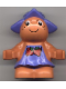 Minifig No: 31234pb02  Name: Duplo Figure Little Forest Friends, Female, Medium Violet Dress with Strawberries (Jingle Bluebell)