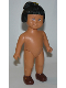 Minifig No: 31310pb05  Name: Duplo Figure Doll, Marie Large, Brown Shoes, without Clothes