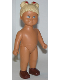 Minifig No: 31310pb06  Name: Duplo Figure Doll, Anna Large, Brown Shoes, without Clothes