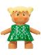 Minifig No: 31312pb01  Name: Duplo Figure Doll, Anna's Baby, Green Polka Dot Dress