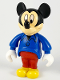 Minifig No: 33254b  Name: Mickey Mouse Figure with Blue Shirt, Red Pants (no cap)