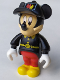 Minifig No: 33254c  Name: Mickey Mouse Figure with Red Pants, Black Fireman Uniform, Black Cap
