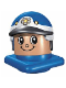 Minifig No: 45219c01  Name: Primo Figure Head Policeman with Helmet