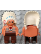 Minifig No: 4555pb080  Name: Duplo Figure, Male, Brown Legs, Nougat Top with White Stripes (American Indian Chief)