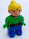 Minifig No: 4555pb092  Name: Duplo Figure, Female, Wendy in Worker Outfit, Bright Green Top
