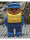 Minifig No: 4555pb161  Name: Duplo Figure, Male, Blue Legs, Blue Top, Life Jacket, Blue Cap