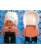 Minifig No: 4555pb257  Name: Duplo Figure, Male, Black Legs, Nougat Top with White Stripes (American Indian Chief)