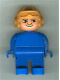 Minifig No: 4555pb260  Name: Duplo Figure, Male, Blue Legs, Blue Top, Aviator Helmet Fabuland Orange