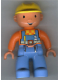 Minifig No: 47394pb029  Name: Duplo Figure Lego Ville, Male, Bob the Builder