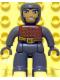 Minifig No: 47394pb053  Name: Duplo Figure Lego Ville, Male Castle, Dark Bluish Gray Legs, Brown Chest, Dark Bluish Gray  Arms, Dark Bluish Gray Hands