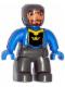 Minifig No: 47394pb057  Name: Duplo Figure Lego Ville, Male Castle, Dark Bluish Gray Legs, Blue Chest, Blue Arms, Blue Hands