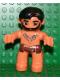 Minifig No: 47394pb097  Name: Duplo Figure Lego Ville, Male, Flesh Legs, Reddish Brown Hips, Tooth Necklace Pattern, Black Beard (Caveman)