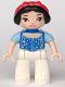 Minifig No: 47394pb148  Name: Duplo Figure Lego Ville, Disney Princess, Snow White