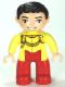 Minifig No: 47394pb150  Name: Duplo Figure Lego Ville, Disney Princess, Cinderella's Prince Charming, Black Hair