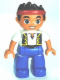 Minifig No: 47394pb162  Name: Duplo Figure Lego Ville, Never Land Pirates, Jake