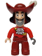 Minifig No: 47394pb164  Name: Duplo Figure Lego Ville, Never Land Pirates, Captain Hook