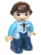Minifig No: 47394pb199  Name: Duplo Figure Lego Ville, Miles without Helmet