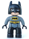 Minifig No: 47394pb213  Name: Duplo Figure Lego Ville, Batman, Black Cowl, Dark Bluish Gray Suit, Black Legs