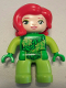 Minifig No: 47394pb224  Name: Duplo Figure Lego Ville, Poison Ivy