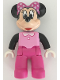 Minifig No: 47394pb235  Name: Duplo Figure Lego Ville, Minnie Mouse, Bright Pink Top with Black Sleeves, Dark Pink Legs