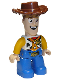 Minifig No: 47394pb275  Name: Duplo Figure Lego Ville, Male, Woody with Open Mouth Pattern