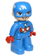 Minifig No: 47394pb281  Name: Duplo Figure Lego Ville, Captain America