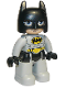 Minifig No: 47394pb287  Name: Duplo Figure Lego Ville, Batman, Black Cowl, Light Bluish Gray Suit and Legs
