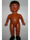Minifig No: 61295pb01  Name: Duplo Figure Doll, Large, without Clothes, Black Male Hair, Medium Brown Body