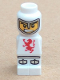 Minifig No: 85863pb002  Name: Microfigure Lava Dragon Knight White