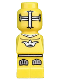 Minifig No: 85863pb004  Name: Microfigure Lava Dragon Knight Yellow