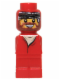 Minifig No: 85863pb007  Name: Microfigure Ramses Pyramid Adventurer Red