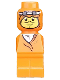 Minifig No: 85863pb008  Name: Microfigure Ramses Pyramid Adventurer Orange (Without Belt)