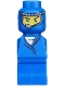 Minifig No: 85863pb009  Name: Microfigure Ramses Pyramid Adventurer Blue