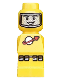Minifig No: 85863pb012  Name: Microfigure Lunar Command Yellow