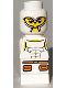 Minifig No: 85863pb015  Name: Microfigure Minotaurus Gladiator White