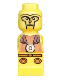 Minifig No: 85863pb016  Name: Microfigure Minotaurus Gladiator Yellow