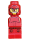 Minifig No: 85863pb017  Name: Microfigure Minotaurus Gladiator Red